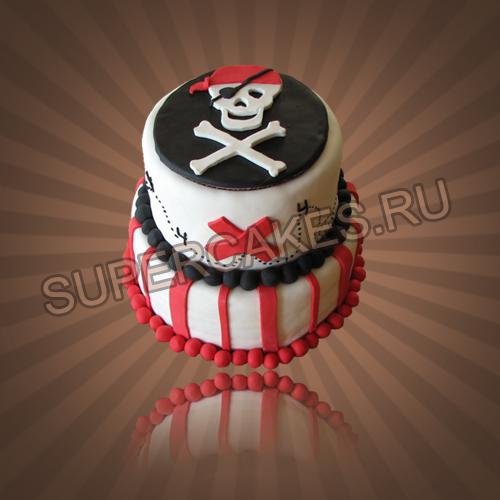 Пиратский торт для_детей_развитие Pinterest Торт, Пираты и