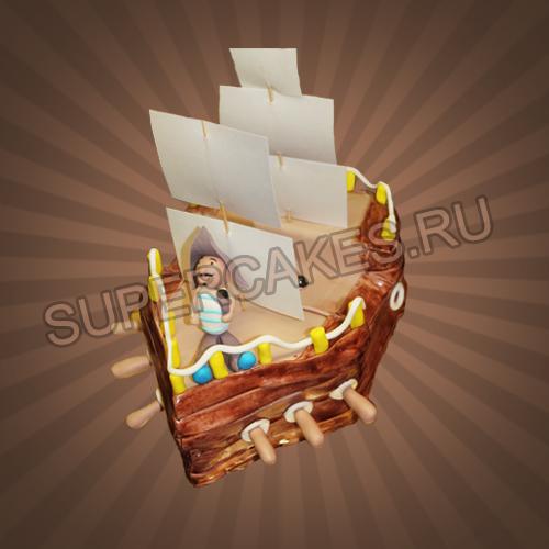 Торт для пиратского дня рождения
