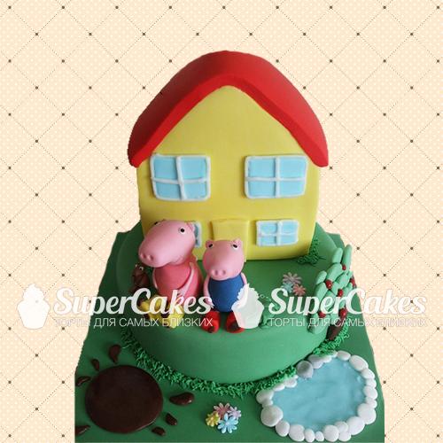 Торт в виде дома