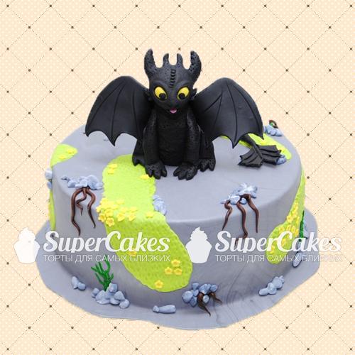 Торт в виде дракона беззубика 5